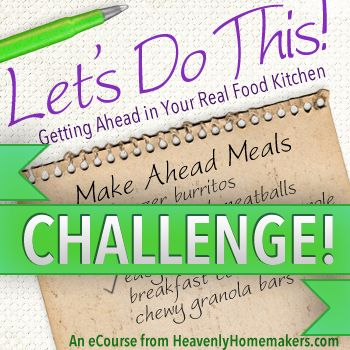 The Plan ~ Getting Ready For Freezer Cooking, Week Two