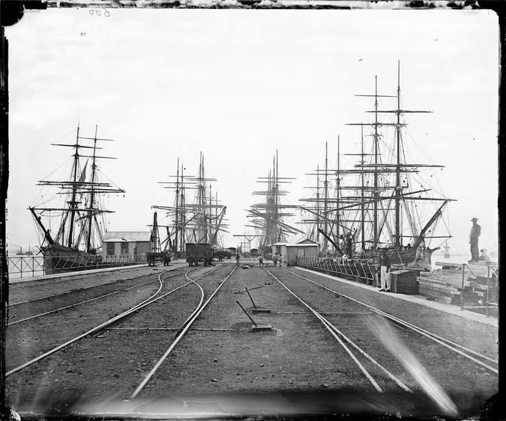 Railway Pier at Williamstown, Victoria in 1875.