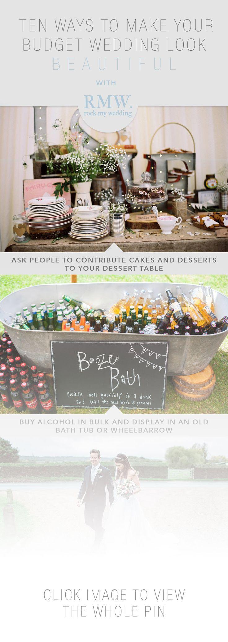 10 ways to make your budget wedding