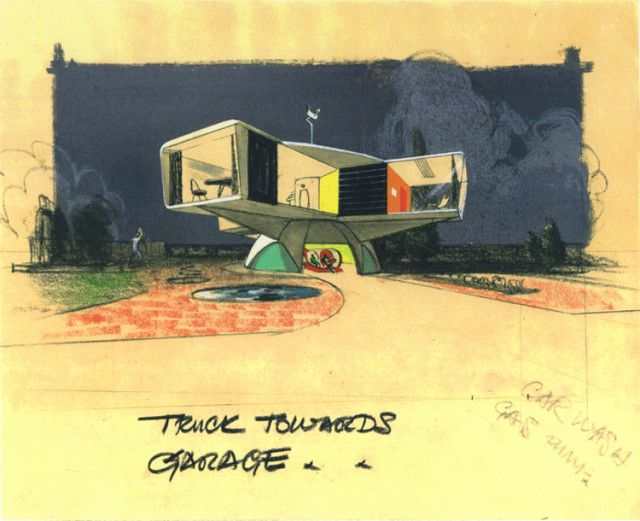 Storyboard illustration for the May 14, 1958 episode of t...