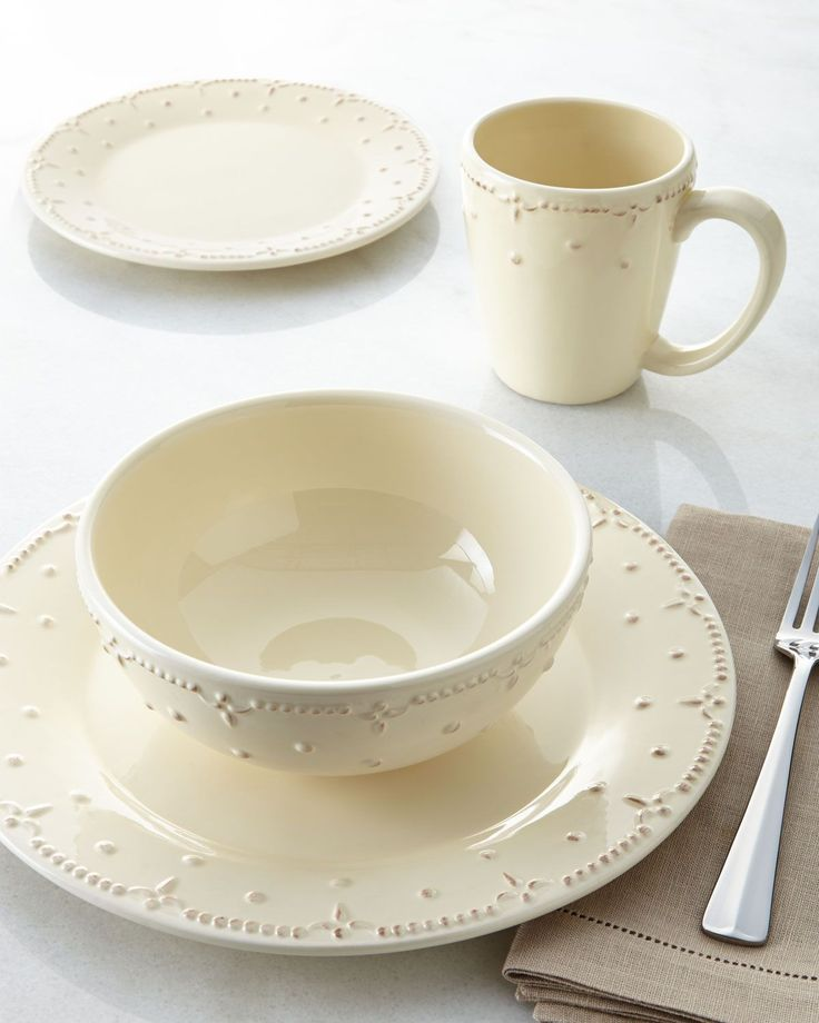 "I LOVE this! 16-Piece ""Genevieve"" Dinnerware Service at Neiman Marcus. special price $85"
