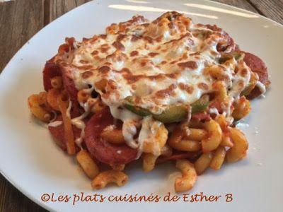 Les plats cuisinés de Esther B: Macaroni style pizza