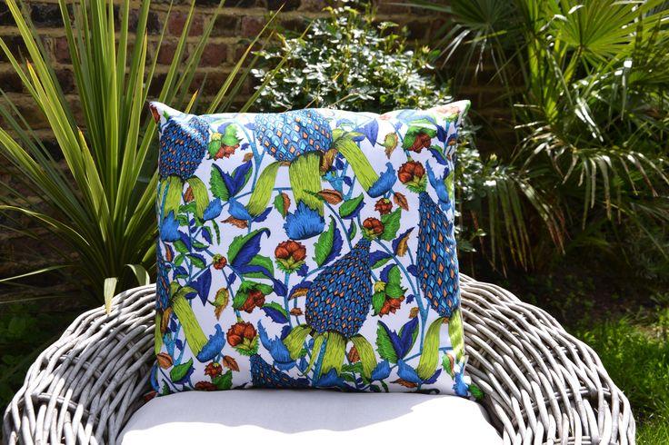 Green Flora & Fauna Cushion Cover £22.00