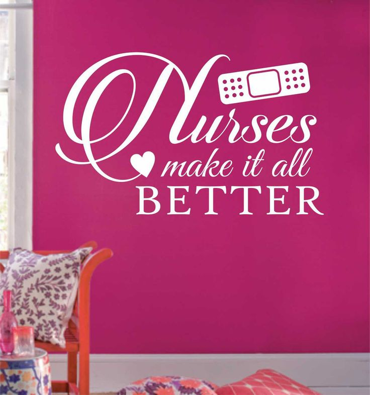 Nurses Make it Better Bandaid Decal Nurse Quote Vinyl Wall Lettering