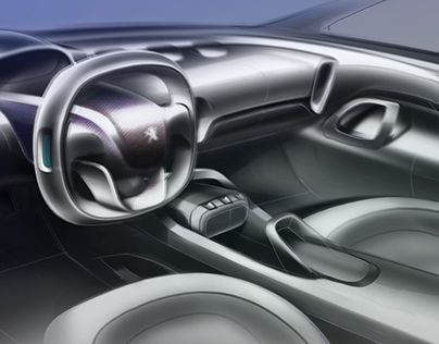 """Check out new work on my @Behance portfolio: """"Peugeot_ Interior motive_rendering."""" http://be.net/gallery/35358863/Peugeot_-Interior-motive_rendering"""