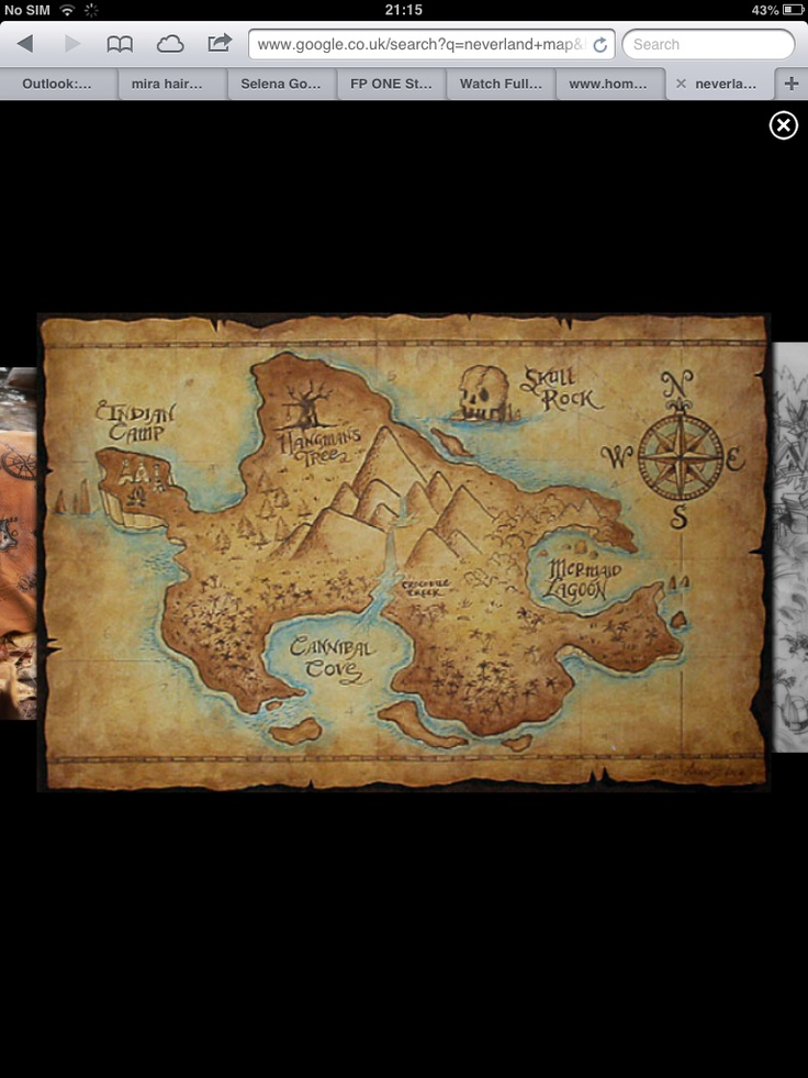 Neverland Map Pirate Party Pinterest Maps And