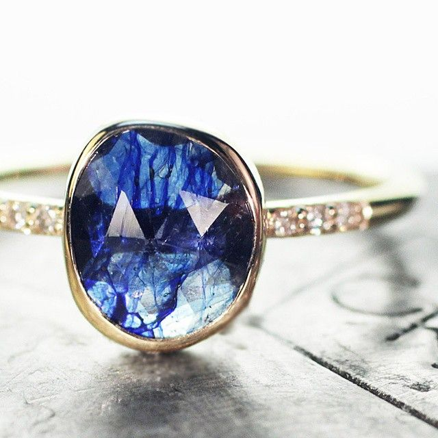 2.6 carat sapphire ring. Handmade with love. chincharmaloney.com