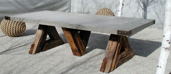 DIY Trestle Table   Concrete Slab, Wood | Spare Time Projects | Pinterest | Trestle  Tables, Concrete Slab And Concrete