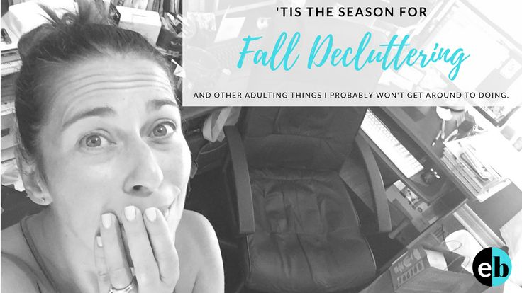 """Jump into fall with a fresh outlook. Time to hit """"reset"""" and declutter those spaces you've been neglecting all summer!"""