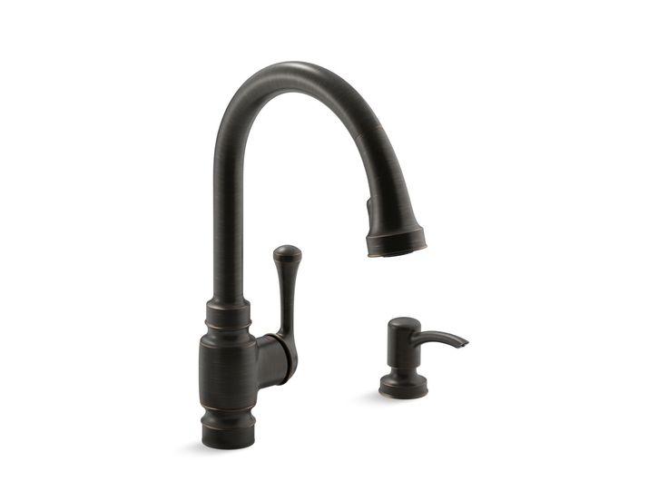 Carmichael Pull-Down Kitchen Faucet with Dispenser | K-R72512-SD | KOHLER