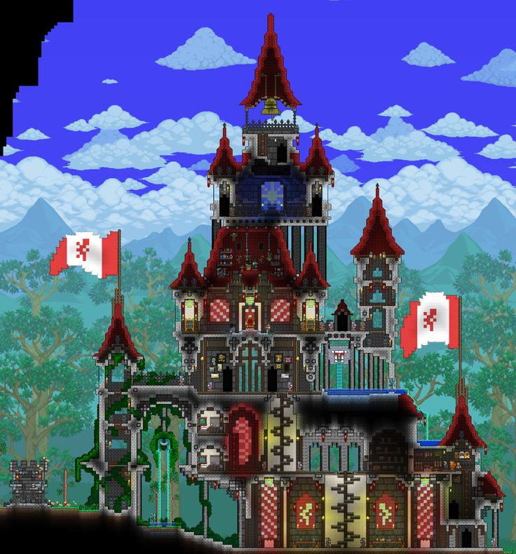 42 best images about terraria house ideas to build on for Build a castle house