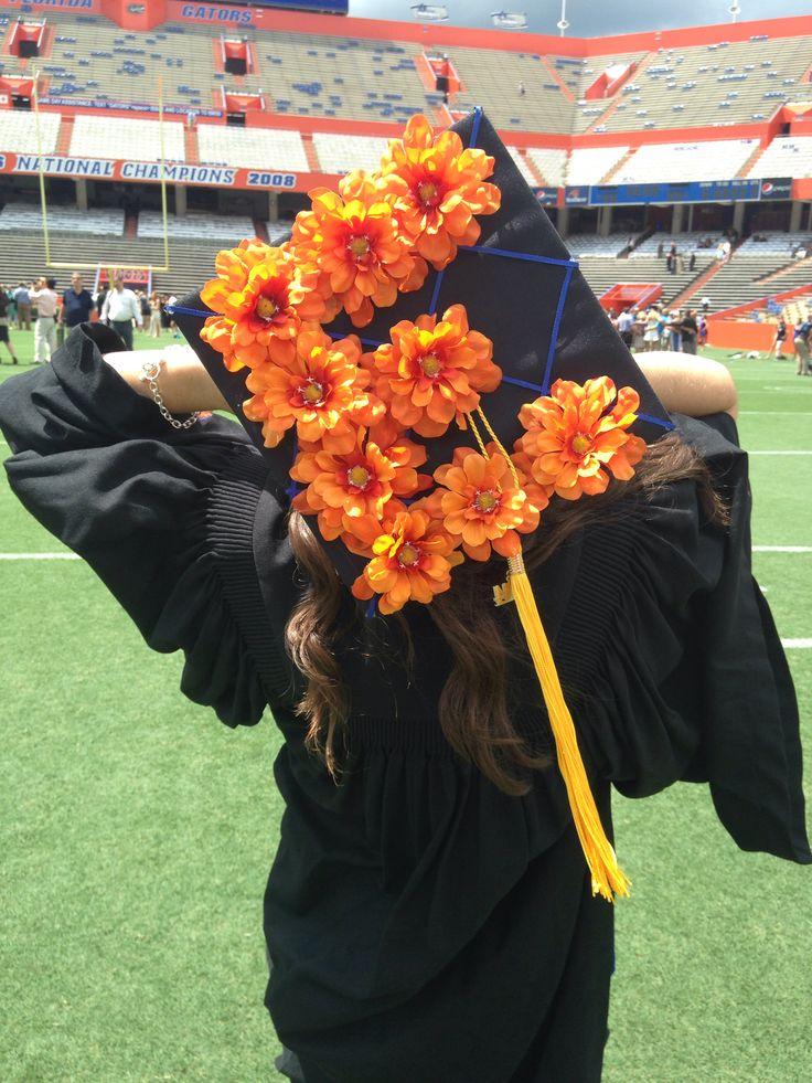 Graduation Cap Decoration! Flowers of your school colors ...