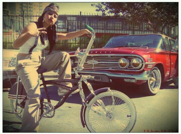 Lowrider lowrider bike lowrider art bicycle girl - Brown pride lowrider ...