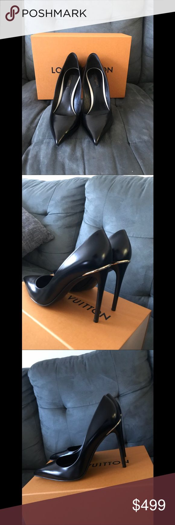 100% Authentic Louis Vuitton Eyeline US10 in Black 100% Authentic Louis Vuitton Eyeline US10 in Black. Brand new comes in LV orange box and dust bags Louis Vuitton Shoes Heels