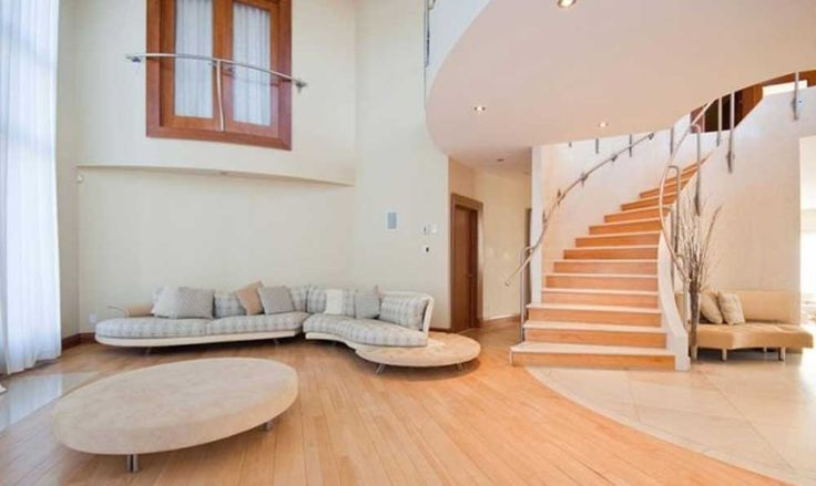 staircase ideas living room with round table and window