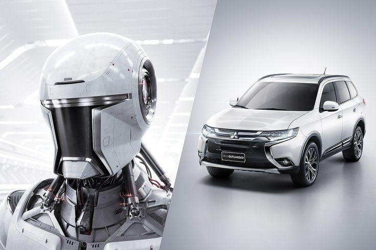 Mitsubishi Outlander - Robot on Behance