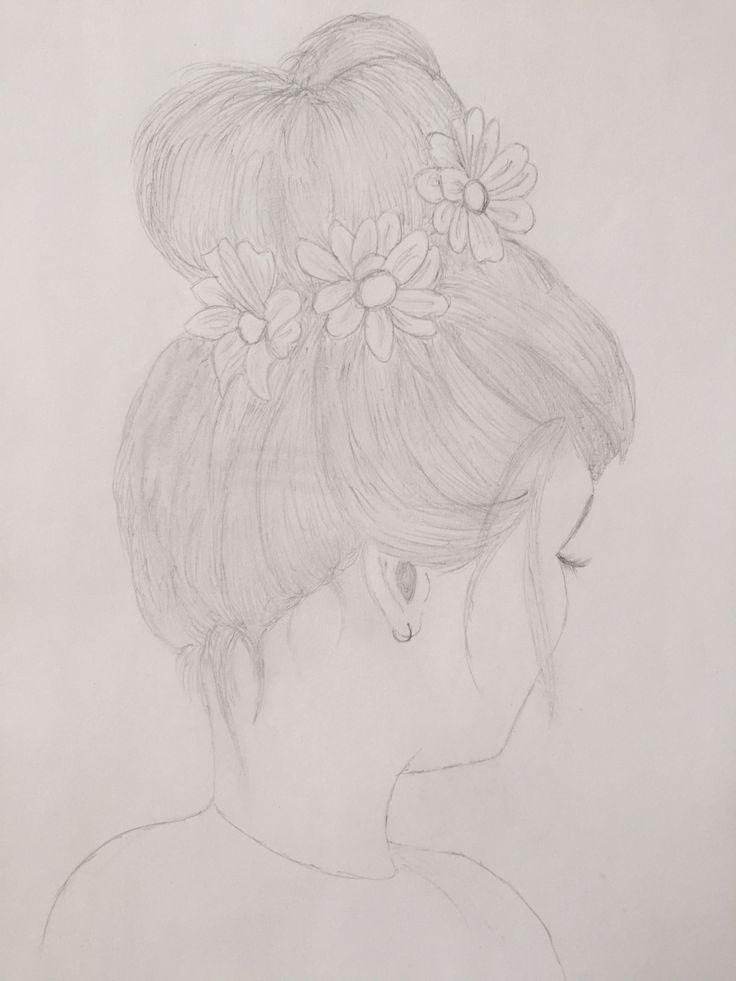 #dibujo #pelo #flores