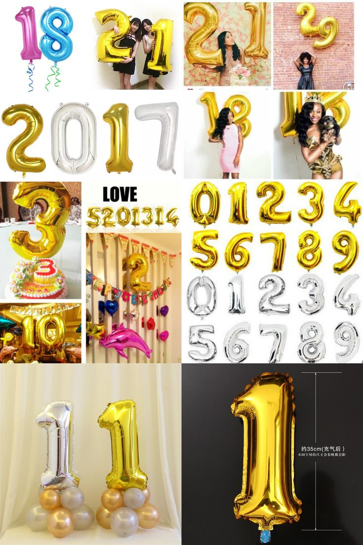 [Visit to Buy] Big super Golden aluminum foil number balloon self seal digit air balon Christmas Birthday Party figure digital balloons #Advertisement