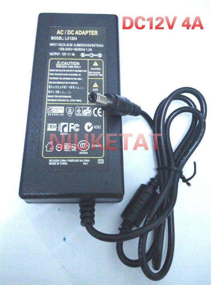 Led 25 pinterest dc 12v 4a ac 100 240v 12v4a led light power adapter led power supply adapter mozeypictures Choice Image