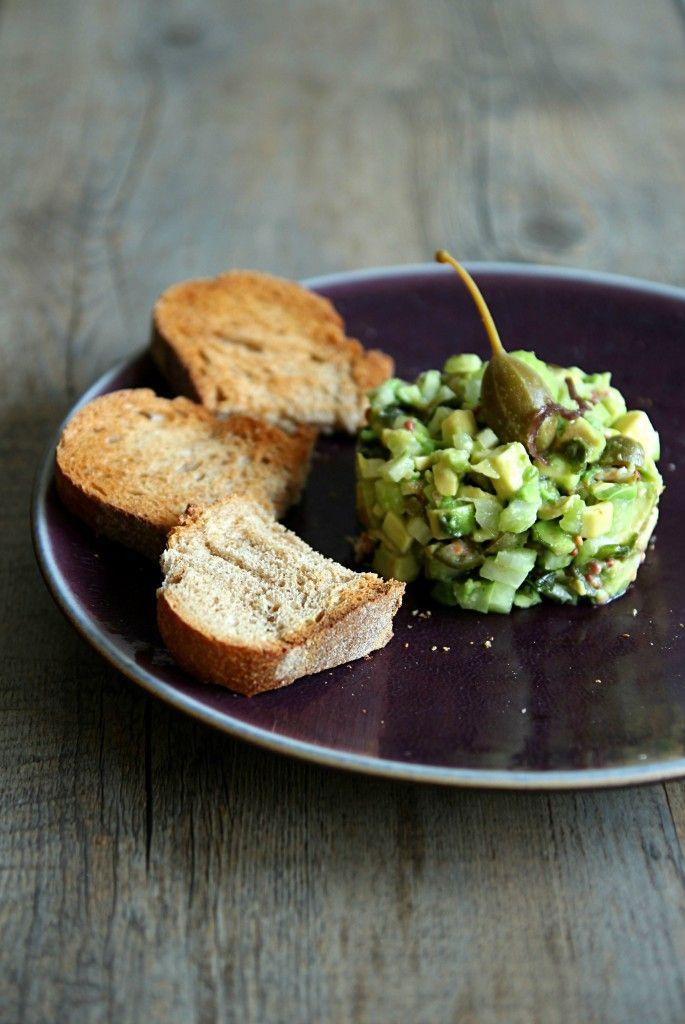 Tartare d'avocat et algues wakame VEGAN - Avocado and wakame tartar with hazelnuts oil