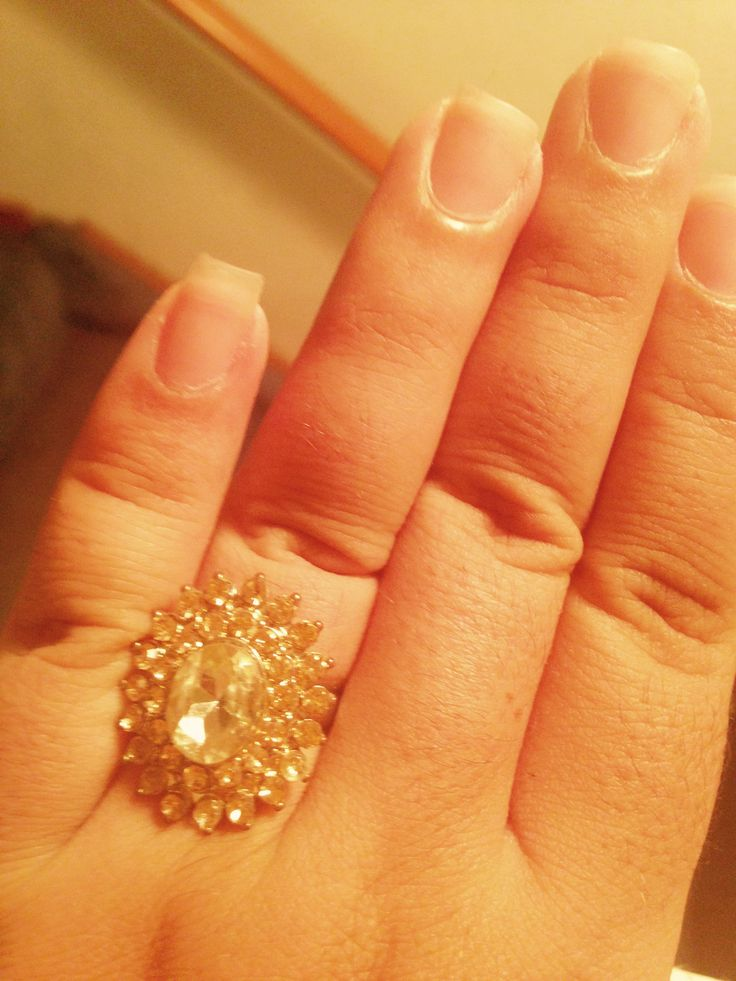 Peach/ rose gold ring bought @ Charlotte Russe. $6.00.