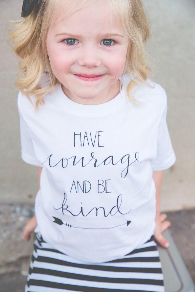 Inspired by the new Cinderella movie, this is the ultimate inspirational tee, perfect for your littles! Designed by Jamie Arnett @lalalettering.Printed on 50/50 cotton/poly fabric.Machine wash cold. Machine dry low. Please allow up to 3 weeks to receive your product. Follow us on Instagram for styling, promotions, and giveaways: @beapparelaz