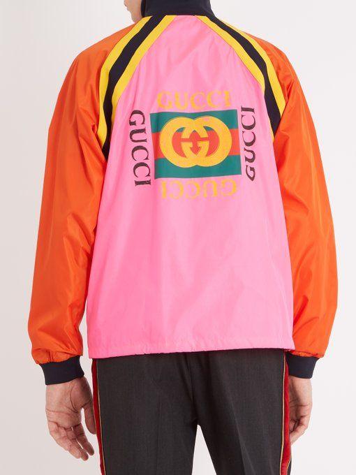 b19ac5459 Gucci Logo-printed nylon shell jacket   GUCCI   Gucci, Fashion, Menswear