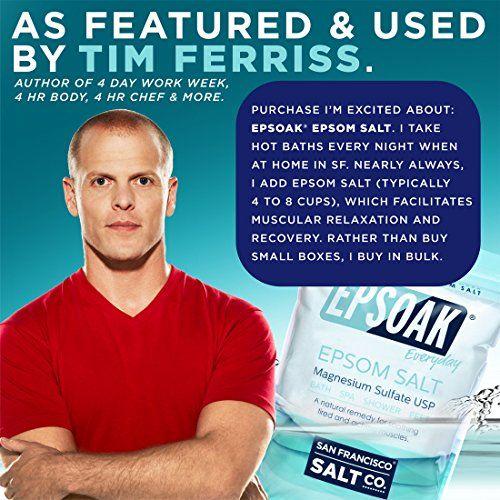 Epsoak Epsom Salt 10lbs Magnesium Sulfate USP