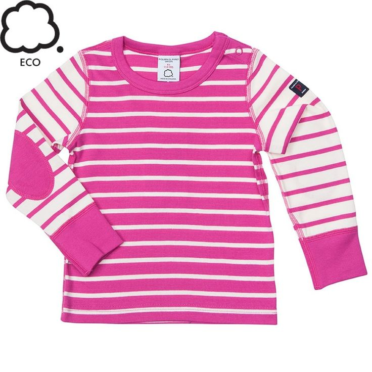 Pink Striped Sweater with Elbow Patches.
