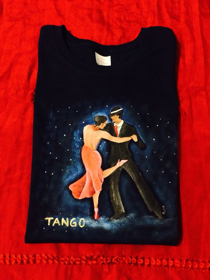 Tango Playera pintada a mano