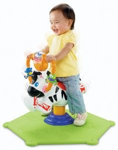 Zèbre tourni-rebond Fisher-Price 60€