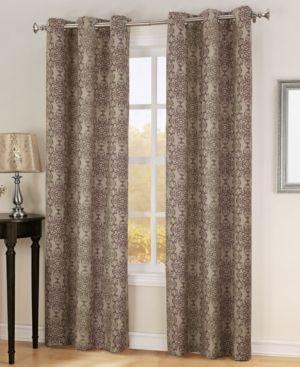 """Sun Zero Ari Thermal Lined Curtain 40"""" x 63"""" Panel  - Tan/Beige"""