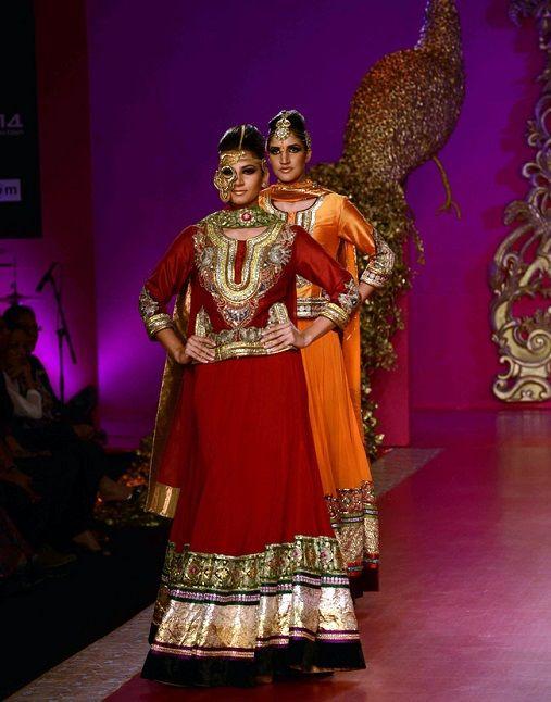 Ritu Beri at India Bridal Fashion Week 2013 .find similar lace designs on www.lacaxo.com
