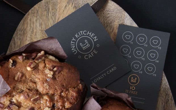 Unity Kitchen Cafe, Queen Elizabeth Olympic Park loyalty card design