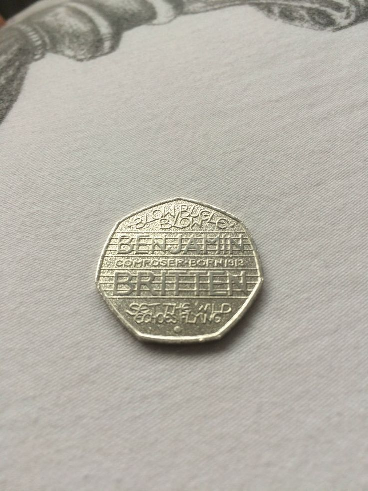 Benjamin Britten 50p piece 50 pence *Rare* Blow Bugle Blow coin collecting Money