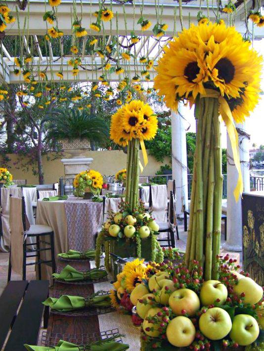 Tablescape sunflowers table decorations pinterest