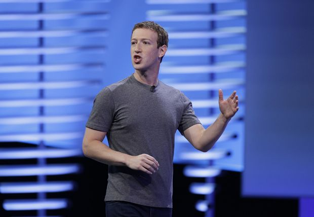 "Facebook CEO Mark Zuckerberg delivers the keynote address April 16 at the F8 Facebook Developer Conference, in San Francisco. In an interview Nov. 10, Zuckerberg said the idea that Facebook influenced the outcome of the U.S. election is a ""crazy idea."""