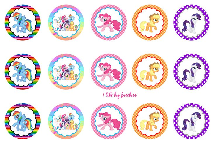 I like big freebies: My Little Pony bottlecap images for hairbows/pendants