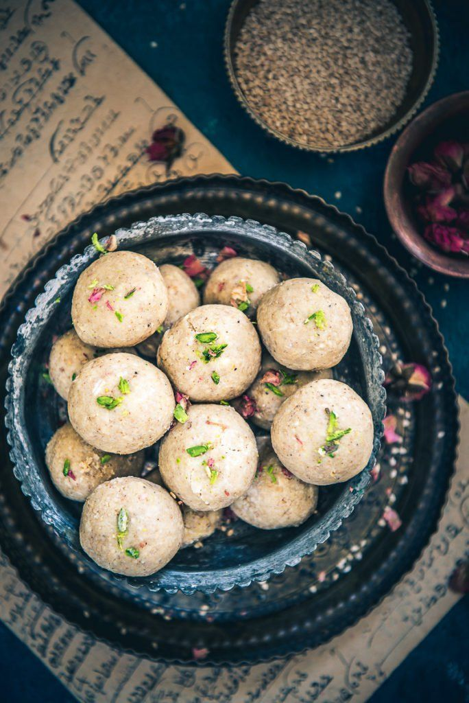 In this recipe of Til Mawa Ladoo, we use the distinctively nutty flavor of til blended with Mawa (Khoya) to create a perfect sweet. #Indian #Sweet #Dessert #Diwali #Holi #sankranti #Festival