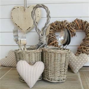 Wicker Cutlery Holders