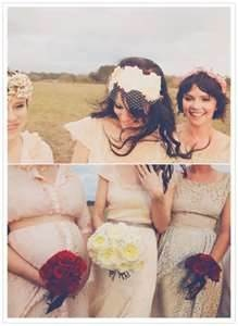 Vintage bridesmaid dress... & a baby belly for Erin!