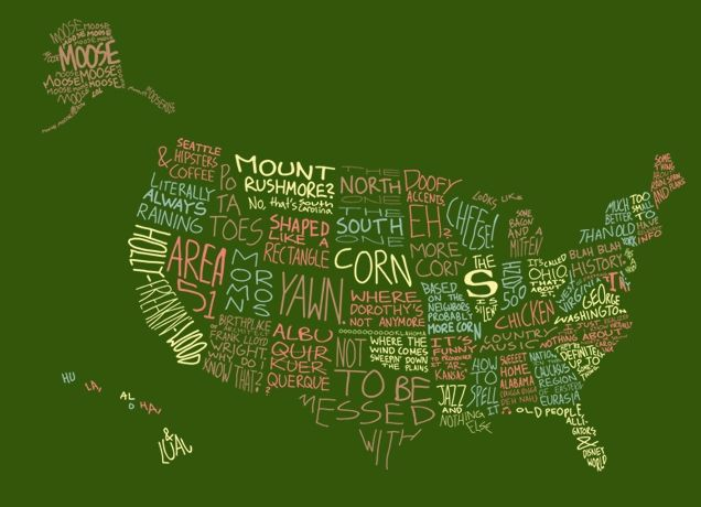 """""""What I Know About the USA"""" - Threadless.com - Best t-shirts in the world"""