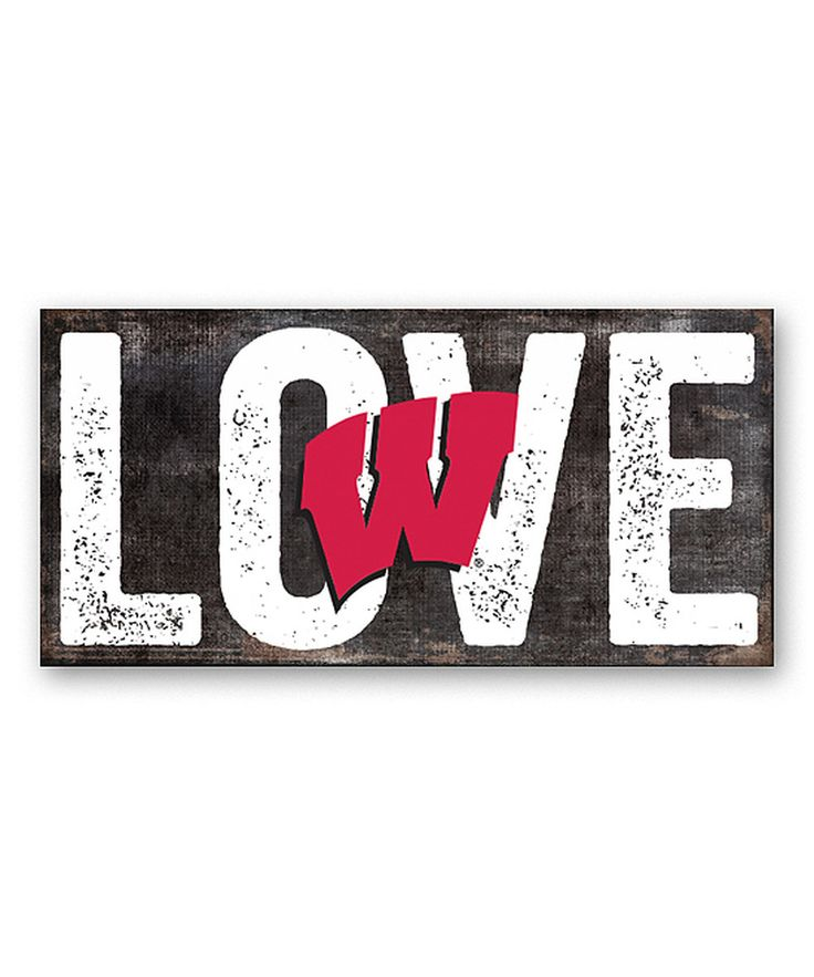 Look at this Wisconsin Badgers 'Love' Sign on #zulily today!