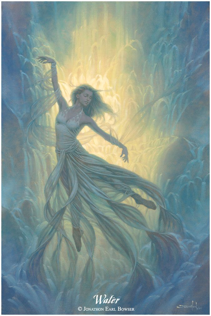 ✯ Elemental Goddess of the Waters .. Artist Jonathon Earl Bowser ..✯