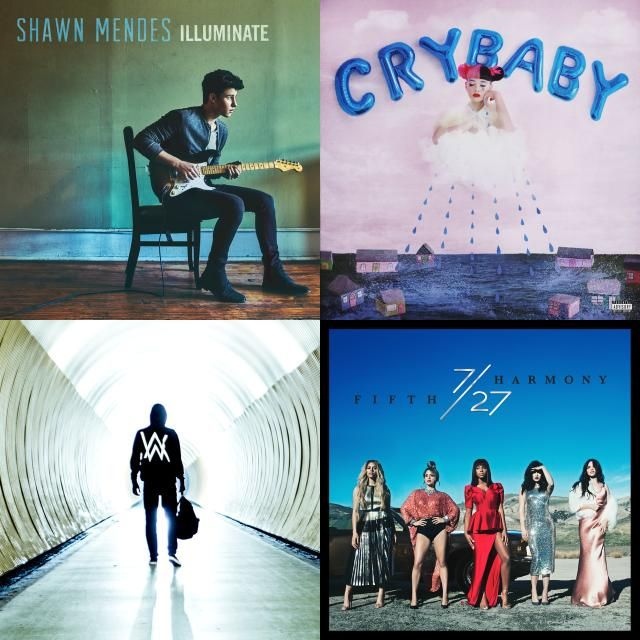 A playlist featuring Shawn Mendes, Melanie Martinez, Alan Walker, and others