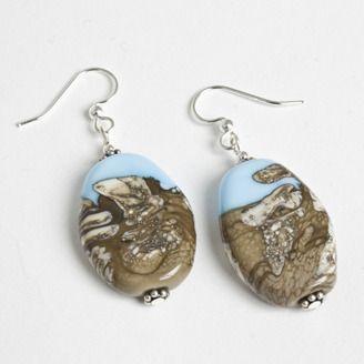 Handmade Glass bead earrings by Darlene Storgeoff - Edmonton, Alberta. Member of the Alberta Craft Council.