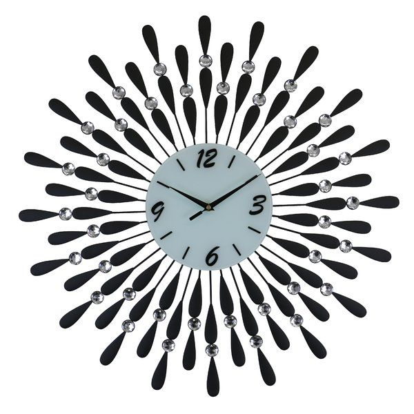 Oversized Dunnes Wall Clock In 2020 Wall Clock Black And White Metal Wall Clock Wall Clock