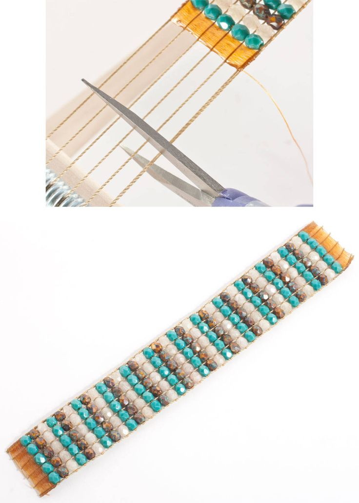 how to complete beadwork on loom