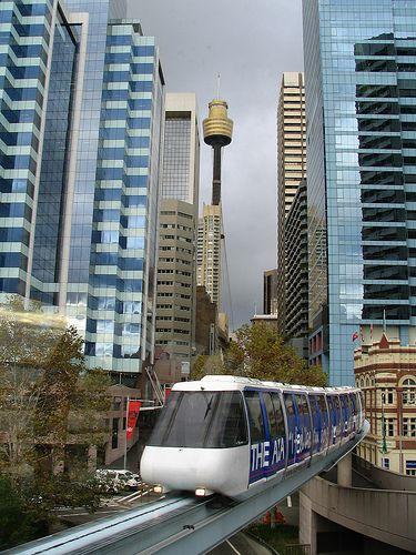 Sydney, Australia - except the monorail is no more - demolished last month (July 2013) ... cheap hotels in #Sidney #Australia holipal.com/hotels/