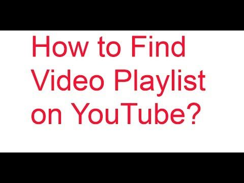 how to find youtube playlist